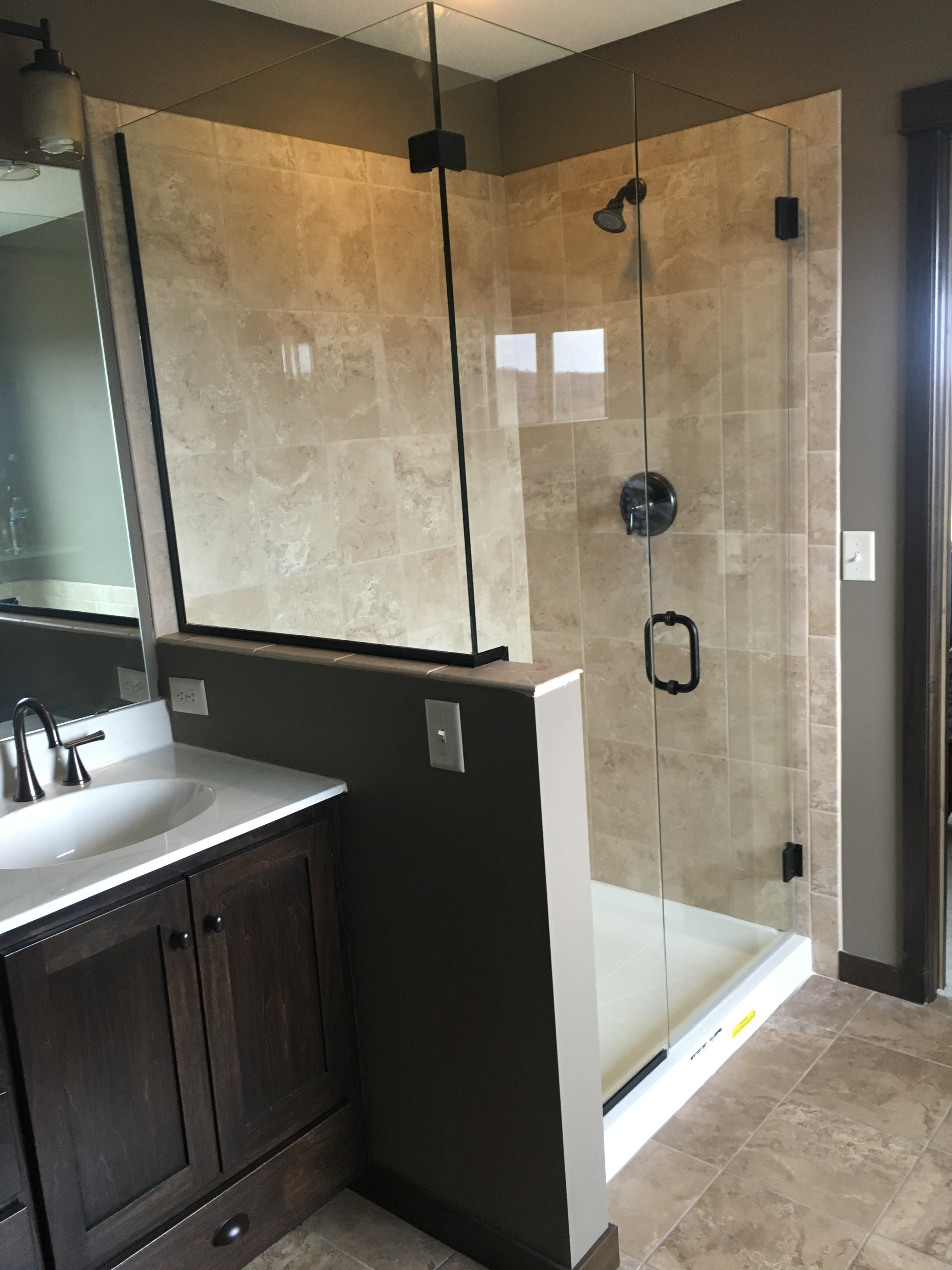 J & A Glass | Custom Shower Glass | Frosted, Tinted, Clear Shower ...